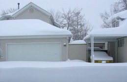 winter garage door