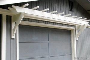 Arbor-garage-door